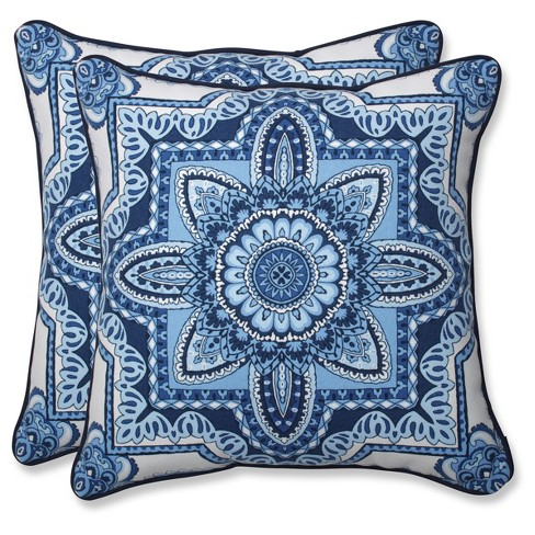 Outdoor/Indoor Malacca Throw Pillow Set of 2 - Pillow Perfect® - image 1 of 1