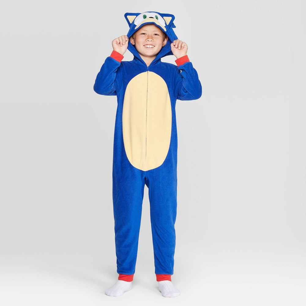 Image of Boys' Sonic the Hedgehog Union Suit - Blue M, Boy's, Size: Medium