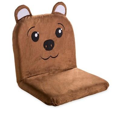 HearthSong - Kids Brown Folding Lounge Chair, Bear