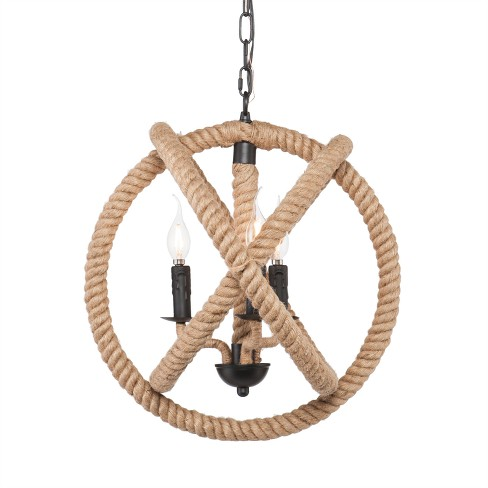 Camulus 3 - Light Rope Orb Pendant Lamp - Natural Rope - Aiden Lane - image 1 of 4