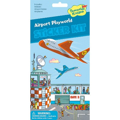 MindWare Airport Playworld Quick Sticker Kit - Stickers - 5 Pieces