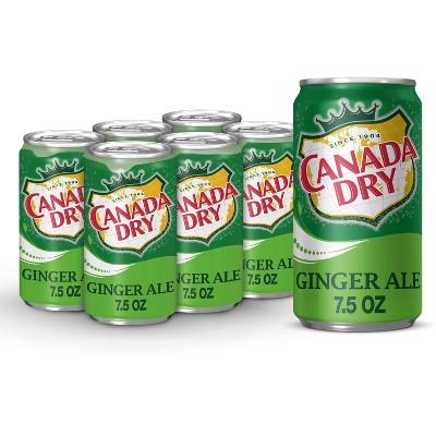 Canada Dry Ginger Ale Soda - 6pk/7.5 fl oz Cans