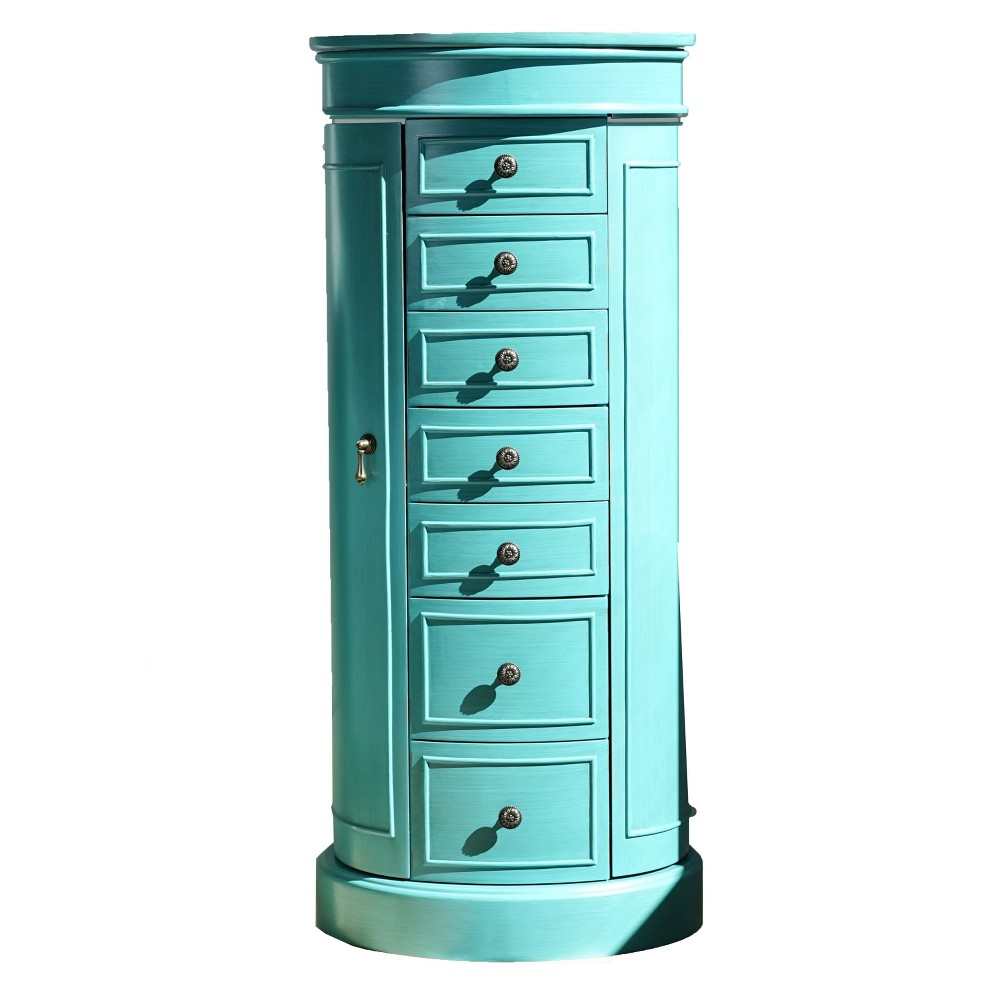 Image of Bailey Standing Jewelry Armoire Turquoise - Hives & Honey