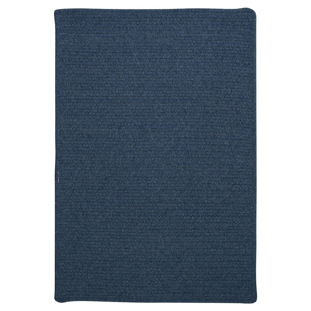 Westminster Wool Blend Braided Area Rug - Federal Blue - (10'x13') - Colonial Mills