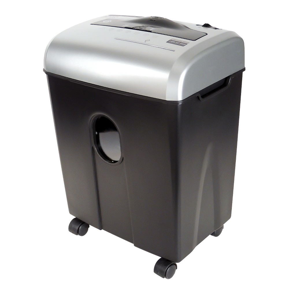 Image of Aurora 12 Sheet Medium Duty Paper Shredder with Wastebasket Black/Gray - AU1215XB, Gray Black