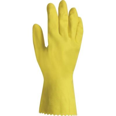"ProGuard Latex Gloves Flock Lined Large 12""L 12/PK Yellow 8448L"