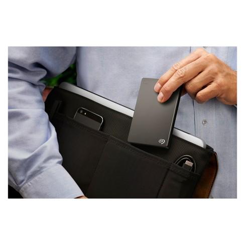 Seagate Backup Plus Slim 1TB Portable External Hard Drive with Mobile Device Backup USB 3.0 - Black (STDR1000100)