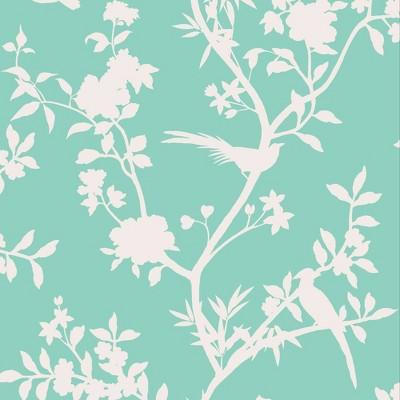 Tempaper Garden Affair Calypso Self-Adhesive Removable Wallpaper Teal/White