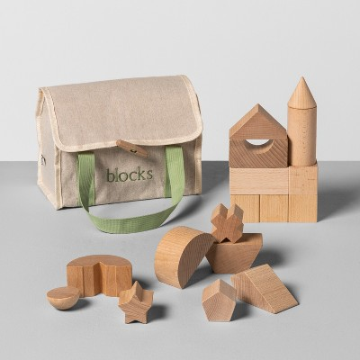 Wooden Toy Blocks with Carrying Bag - Hearth & Hand™ with Magnolia