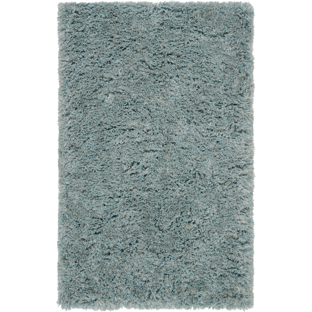 3'X5' Solid Tufted Accent Rug Blue/Light Gray - Safavieh