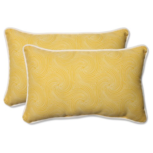 Pillow Perfect Nabil Sunflower Outdoor Throw Pillow Set - Yellow - image 1 of 2