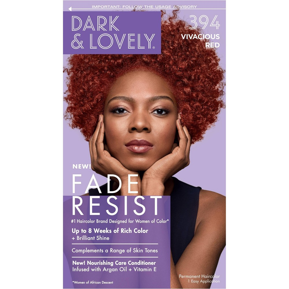 Image of Dark and Lovely Fade Resist Permanent Hair Color - 394 Vivacious Red
