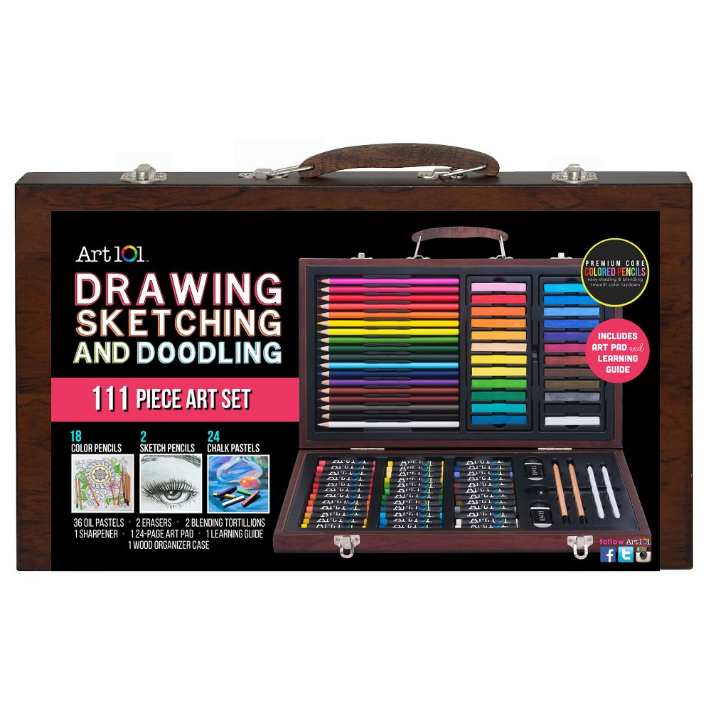 Image of Art101 Drawing, Sketching, and Doodling Supply Set - 111pc