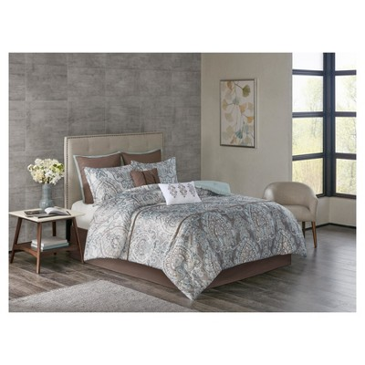 Lansing Charmeuse Print Version 2 Comforter Set (King)8pc