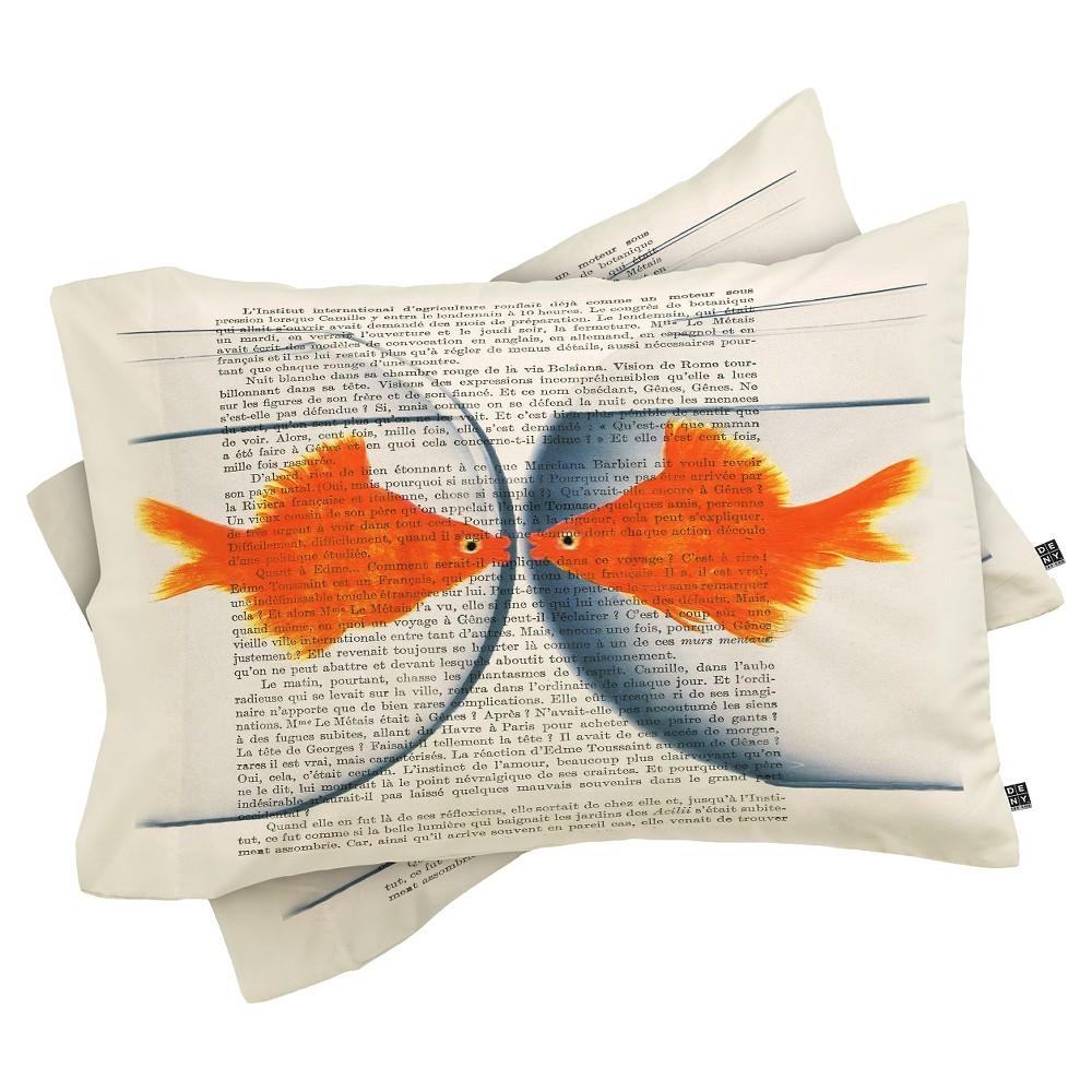 Coco De Paris Goldfish Love Lightweight Pillowcase Standard Orange Deny Designs
