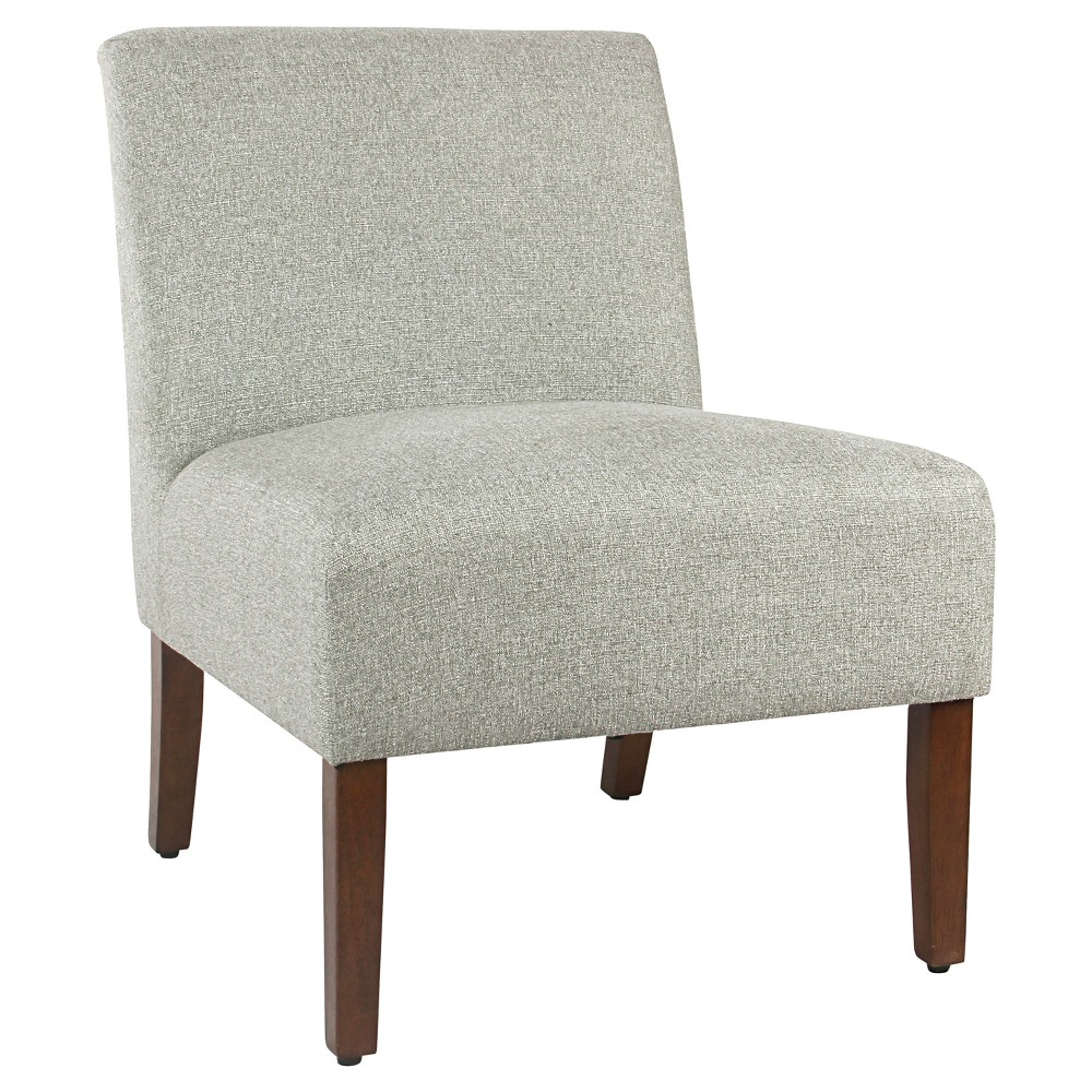 Carson Armless Accent Chair - Gray - HomePop
