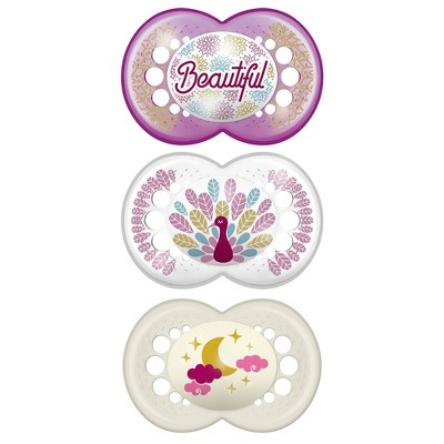 MAM Day/Night Triple Pack, 6+ Months - Purple/Pink 3ct