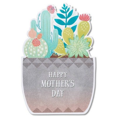 Happy Mothers Day Card Succulent With Foil