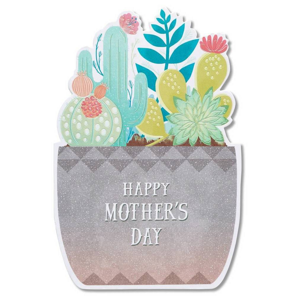 """Image of """"""""""""Happy Mother's Day Card"""""""" Succulent With Foil"""""""