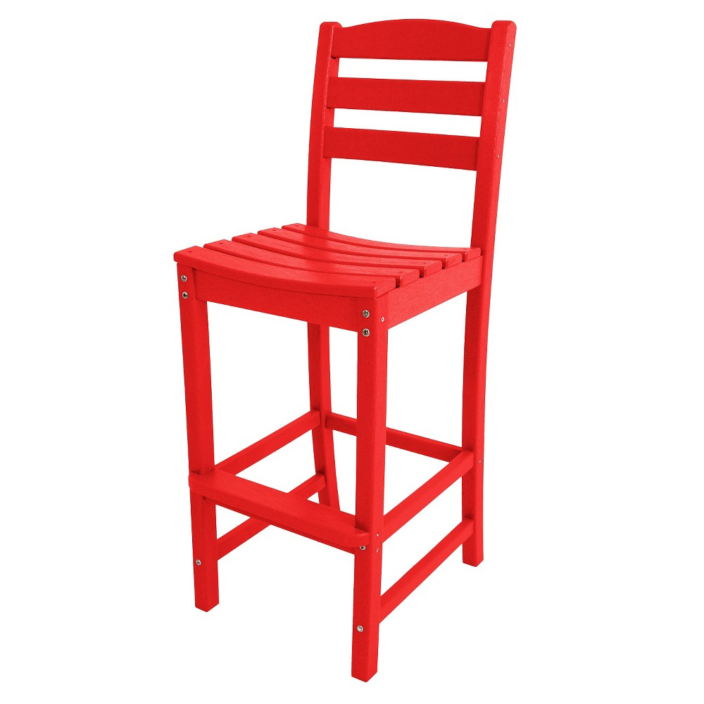 Polywood La Casa Bar Height Patio Dining Side Chair - Red
