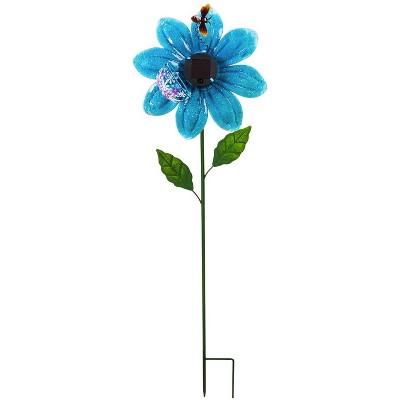 """Evergreengarden 38""""H Secret Solar Garden Stake, Blue"""