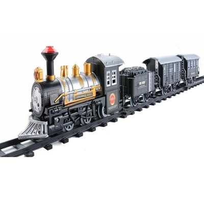 Northlight 14-Piece Consumate Model Battery Operated Lighted and Animated Classic Train Set with Sound