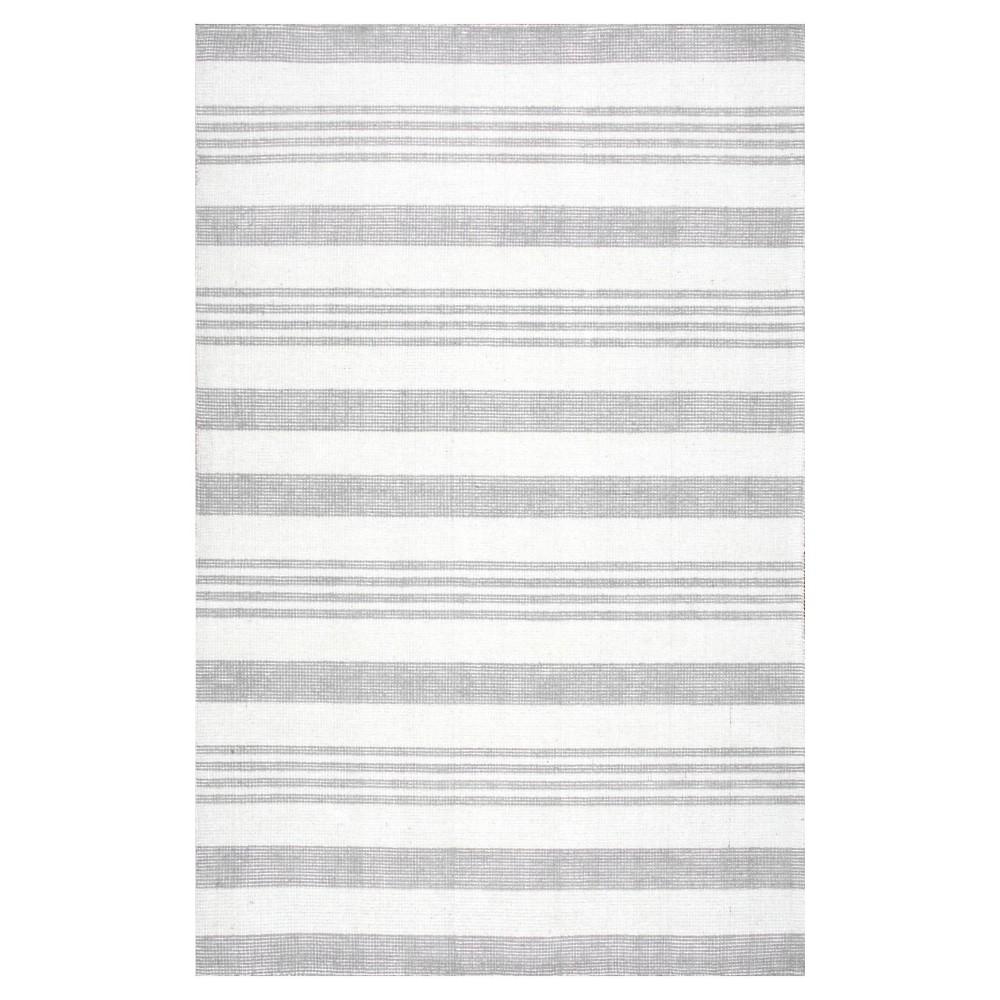 nuLOOM Hand Loomed Earleen Area Rug - Gray (5'x8'), Grey