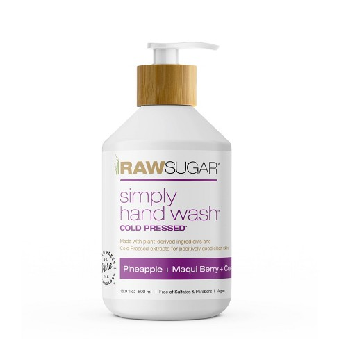 Raw Sugar Simply Hand Wash Pineapple + Maqui Berry + Coconut - 16.9 fl oz - image 1 of 4