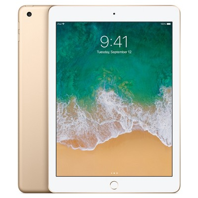 Apple® iPad 9.7  128GB Wi-Fi Only (2017 Model, 5th Generation, MPGW2LL/A)- Gold