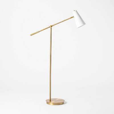 Task Metal Floor Lamp (Includes LED Light Bulb) Brass - Threshold™ designed with Studio McGee