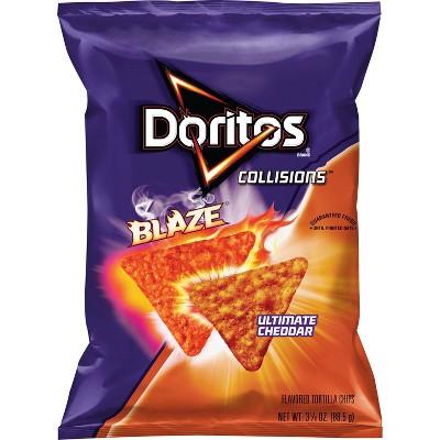 Doritos Collisions Blaze Ultimate Cheddar Tortilla Chips - 3.125oz