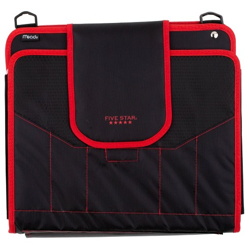 "Five Star 1100 Sheet 2"" Zipper Ring Binder Black/Red - image 1 of 6"