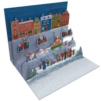 8ct Folk Art Christmas Pop-Up Boxed Cards