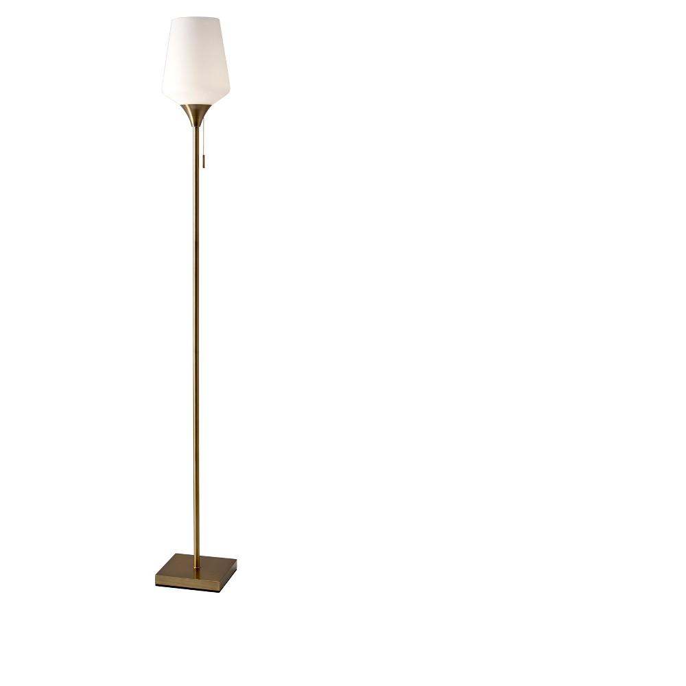 Roxy Floor Lamp Antique Brass (Lamp Only) - Adesso