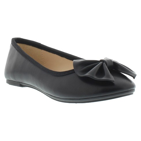 Girls' Sam & Libby Victoria Icon Matte Ballet Flats - Black - image 1 of 4