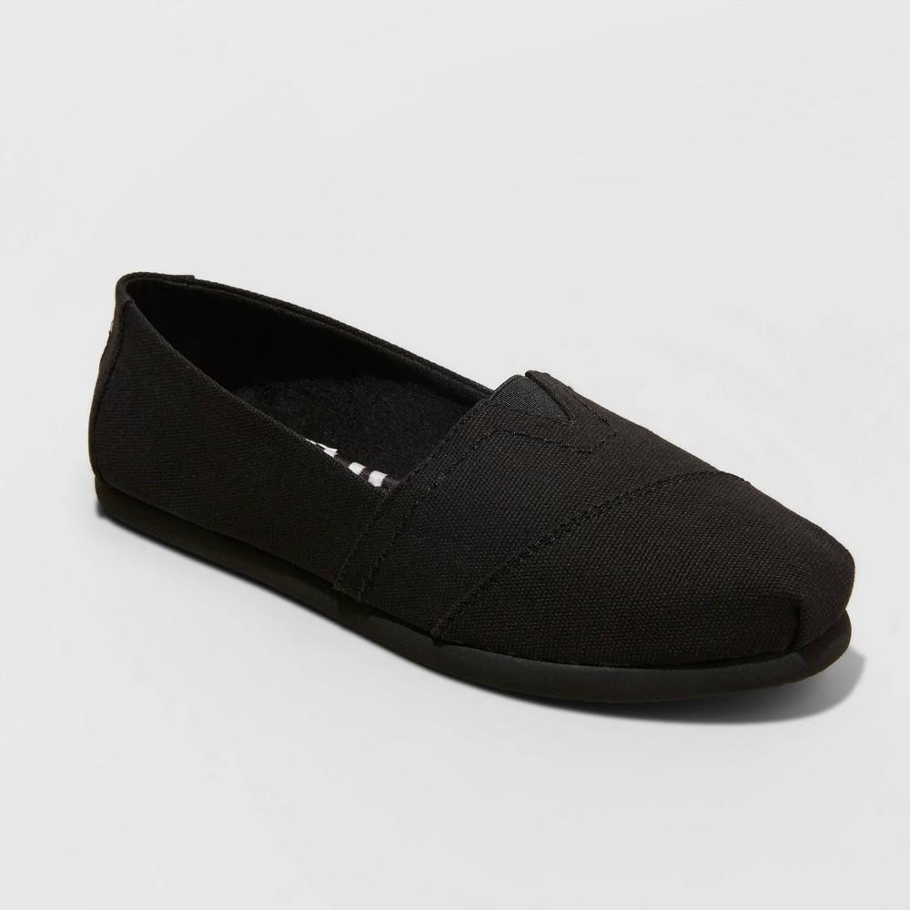 Women 39 S Mad Love Lydia Wide Width Slip On Canvas Sneakers Black 6w