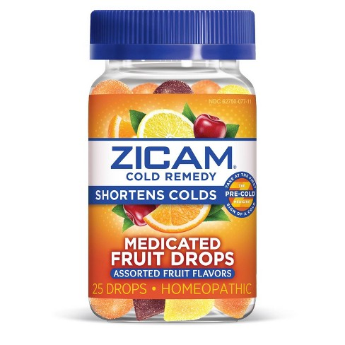 Zicam Cold Remedy Medicated Drops - Fruit - 25ct - image 1 of 3