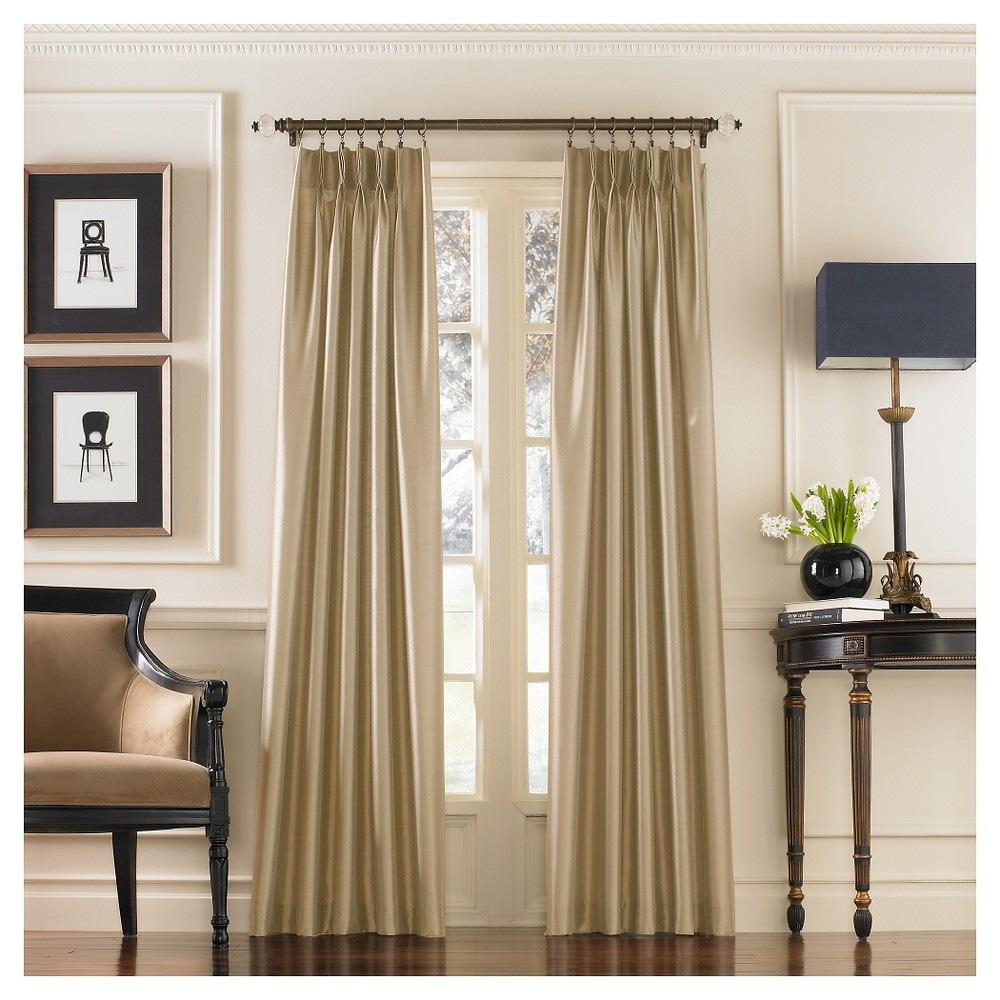 """Image of """"30""""""""x132"""""""" Curtain Panels Sand - Curtainworks, Size: 132"""""""", Brown"""""""