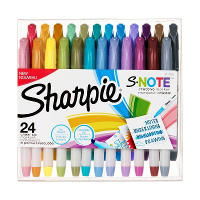 Sharpie 24pk Creative Marker Highlighters S-Note Chisel Tip Multicolor