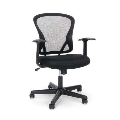 Mid Back Office Chair Mesh Black - OFM