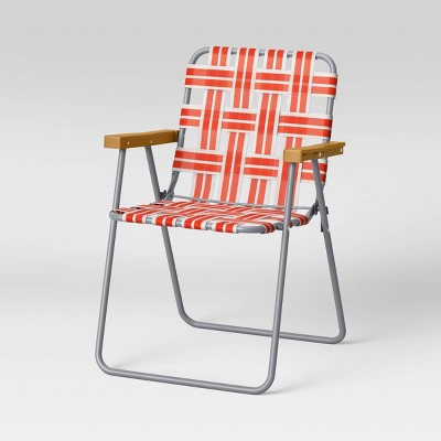 Webstrap Patio Folding Chair - Lava - Room Essentials™