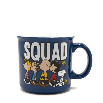 Peanuts 20oz Ceramic Squad Camper Mug - Silver Buffalo