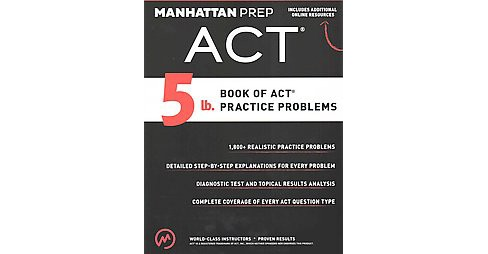 5 Lb. Book of ACT Practice Problems (Paperback) - image 1 of 1