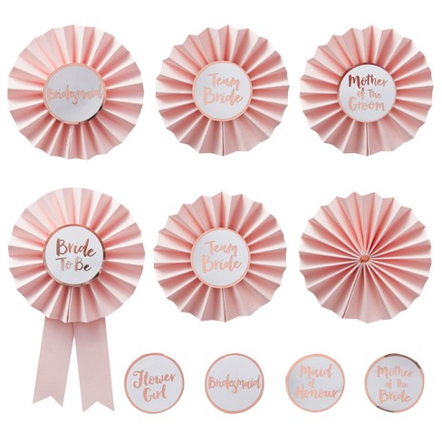 6ct Ginger Ray Pink Hen Party Badges Team Bride - image 1 of 2