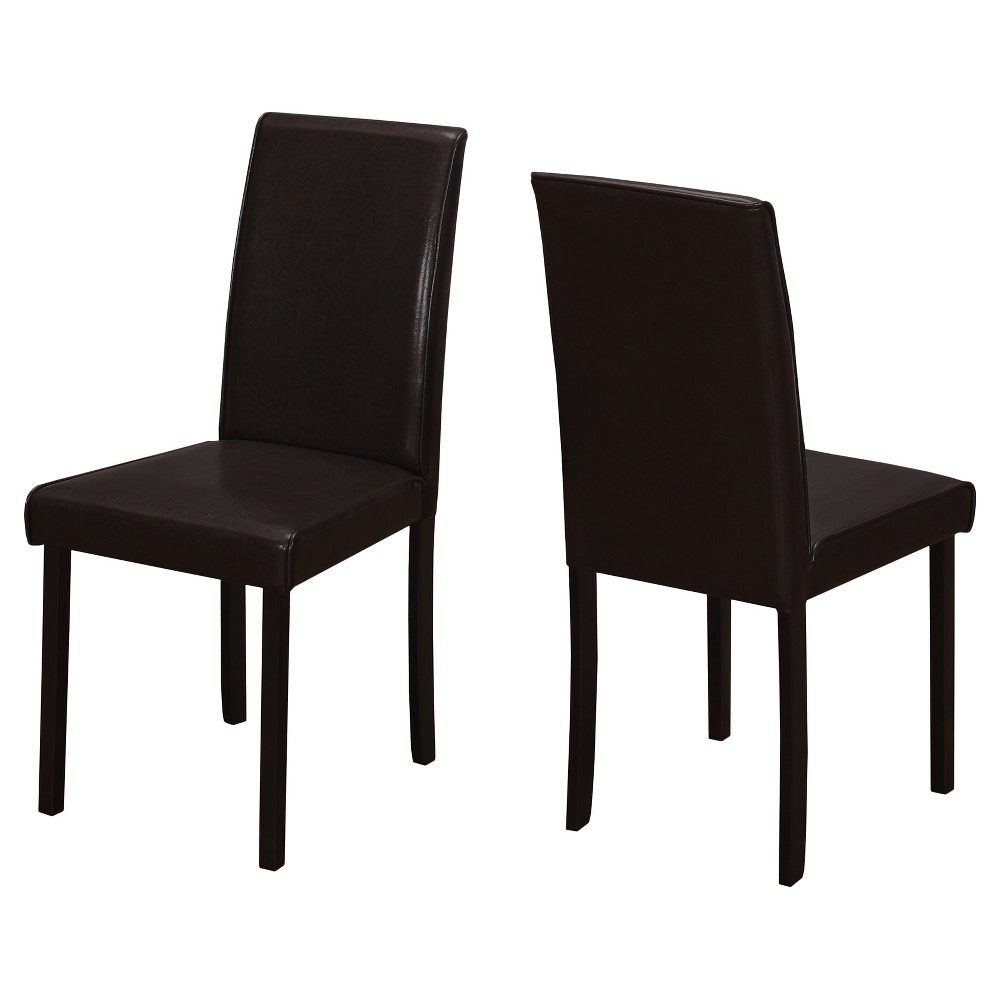 Swell Dining Chair 2 Piece Dark Brown Leather Everyroom Gmtry Best Dining Table And Chair Ideas Images Gmtryco