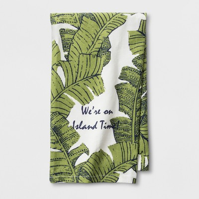 Green Island Time Kitchen Towel - Threshold™
