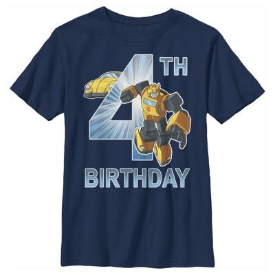 Boy's Transformers Bumblebee 4th Birthday T-Shirt
