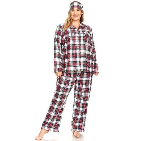 Women's Plus Size Three-Piece Pajama Set - White Mark - image 1 of 3