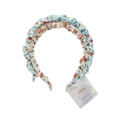 scunci Collection Skinny Ruched Headband - Ditzy Print - 2pk