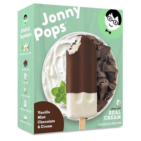JonnyPops Vanilla Mint Chocolate & Cream Frozen Bars - 3pk - image 1 of 1